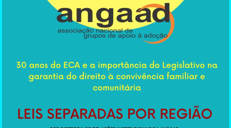 Leis sobre Adoção, separadas por regiões do Brasil
